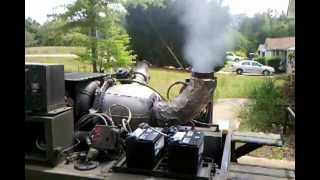 Gas Turbine Jet engine fire ball as it has a hard time starting