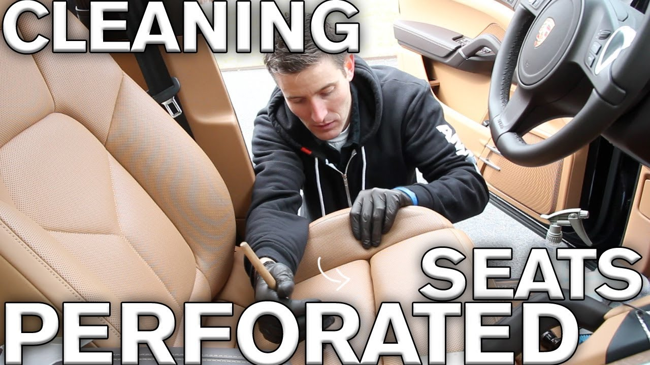 Trick to cleaning perforated leather car seats - YouTube
