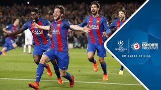 Melhores Momentos - Barcelona 6 x 1 PSG - Champions League (08/03/2017)