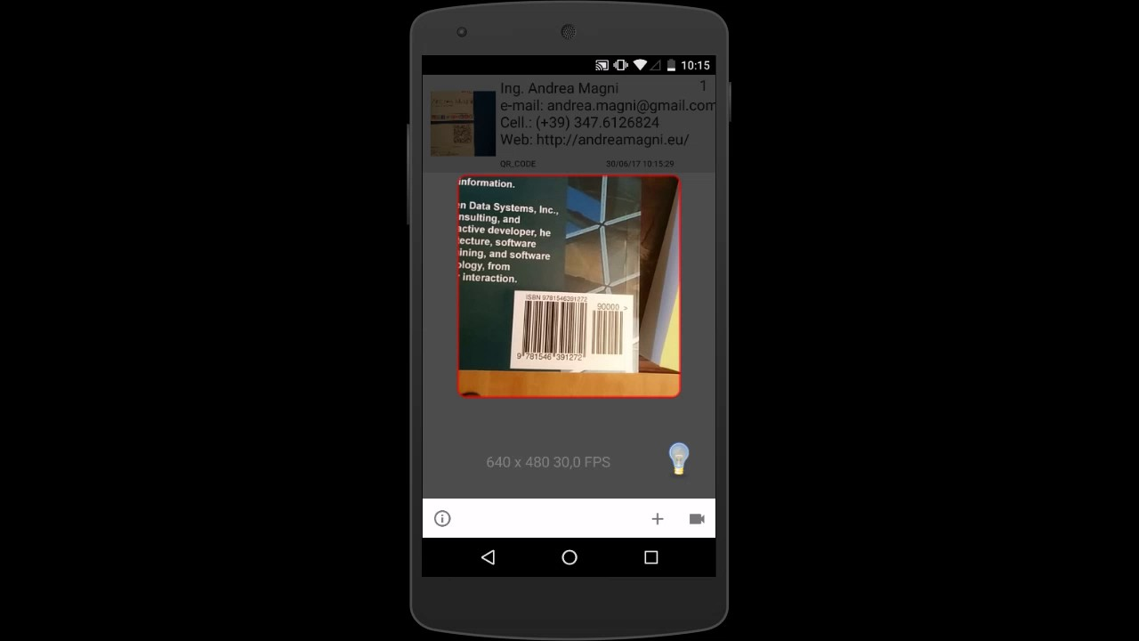 ScannerMApp: a QR/barcode scanner app with Delphi, ZXing and
