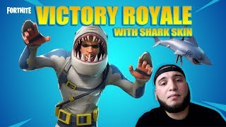 EPIC VICTORY ROYALE WITH THE SHARK SKIN IN FORTNITE ( ELY OFFICIAL )