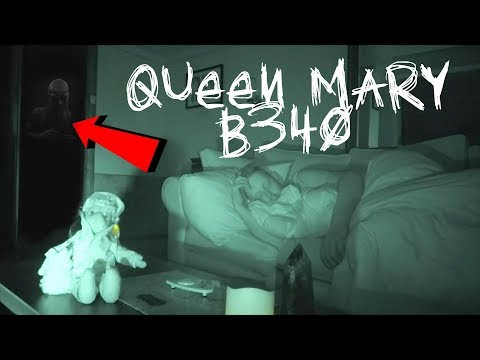 QUEEN MARY B340 - I RECORDED MYSELF SLEEPING IN THE MOST HAUNTED ROOM EVER | OmarGoshTV & FaZe Rug