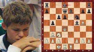 Chess Genius: How good was Magnus Carlsen at age 13?! Game vs GM Sergey Dolmatov - Aeroflot 2004