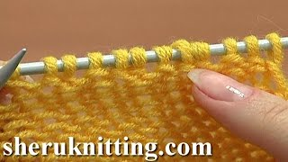 How to Knit Purl 1 Back and Front Increase Tutorial 8 Method 2 of 14 Increases in Knitting