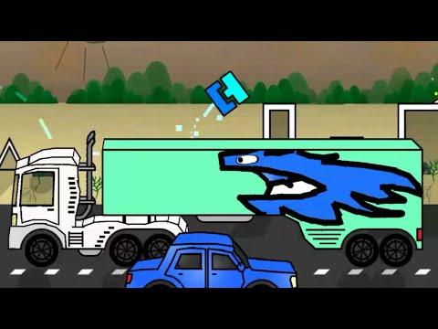 GEOMETRY DASH CAR ( ͡° ͜ʖ ͡°)  | Travel - 10MinutesAgo (Art Level)