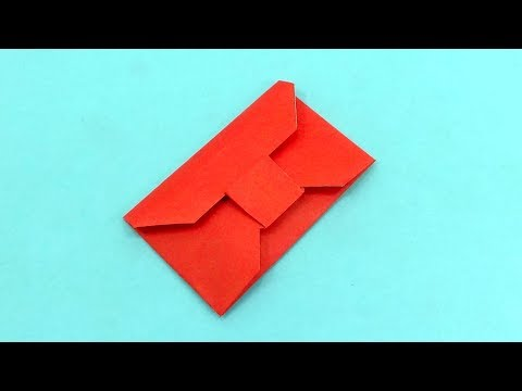 DIY - Easy origami envelope tutorial | How To Make A Colored Paper ENVELOPE | (No Glue or Tape)
