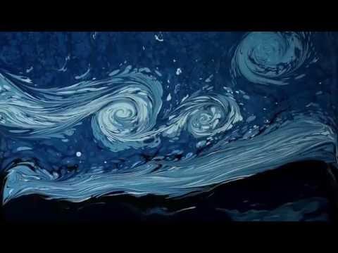 Ebru sanatı ile Van Gogh betimlemesi