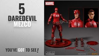 "Top 10 Daredevil Mezco [2018]: Marvel Comics One:12 Collective Daredevil 6.5"" Action Figure"