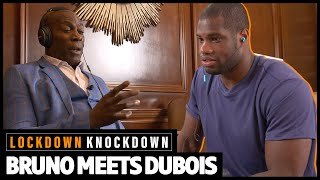 Daniel Dubois and Frank Bruno compare knocking someone out to sex   Brunos Meets Dubois