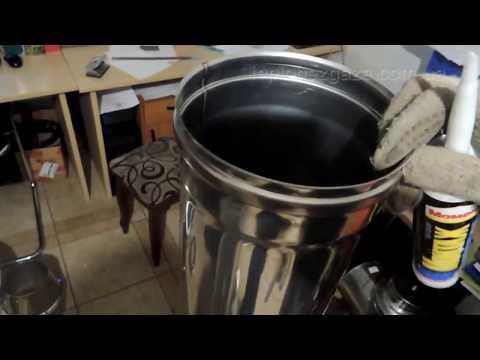 видео: Чем уплотнить стыки дымохода?Своими руками делаем монтаж сендвич дымохода из нержавейки.