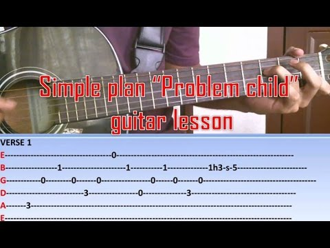 Simple plan - Problem Child - Guitar lesson/tutorial - YouTube