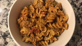 Weight Watchers Simply Filling  Cook With Me - Cheesy Taco Pasta