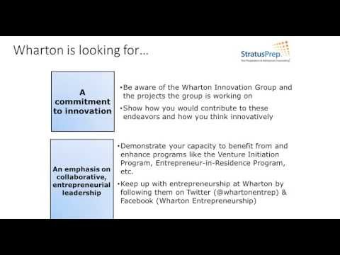 10 Insider Tips for Admission into Wharton - Webinar