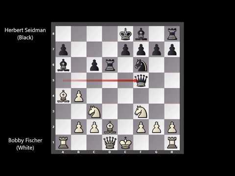 Bobby Fischer Vs Herbert Seidman - New York (1959) #32