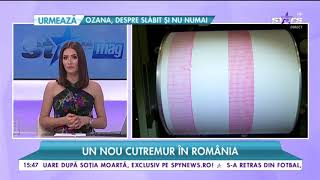 Un nou cutremur în România. Seismul s-a produs la o adâncime de 150 de kilometri