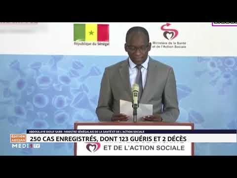 Coronavirus au Sénégal: 250 cas confirmés, 123 patients guéris, 2 décès