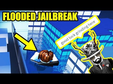 Asimo3089 FLOODED The JAILBREAK MAP??!! [UNDERWATER JAILBREAK]   Roblox Jailbreak Winter Update