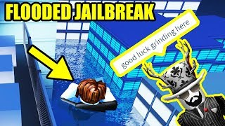 asimo3089 FLOODED the JAILBREAK MAP??!! [UNDERWATER JAILBREAK] | Roblox Jailbreak Winter Update