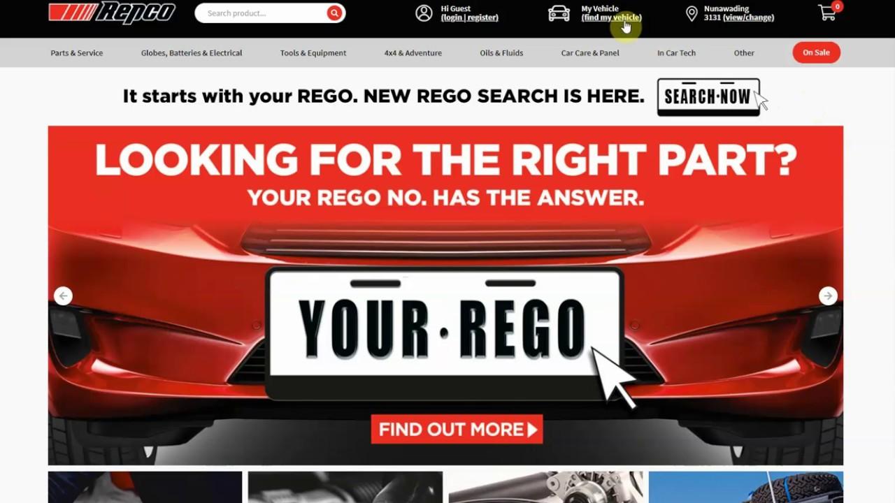 Australia's first Registration Search | Repco Australia