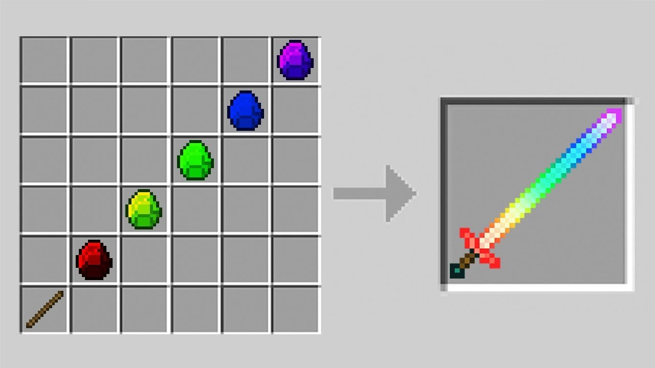 How to Craft a Diamond Sword in Minecraft