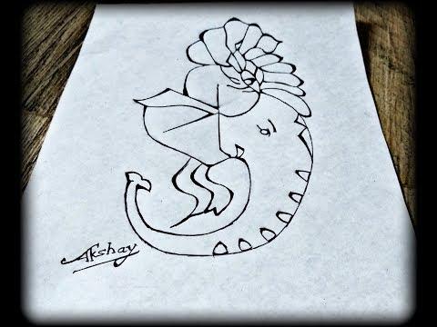 9e5b25061e484 Very Easy - How to draw Lord Ganesha - Trick Art for kids - Art Maker