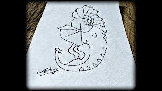Very Easy - How to draw Lord Ganesha - Trick Art for kids - Art Maker Akshay