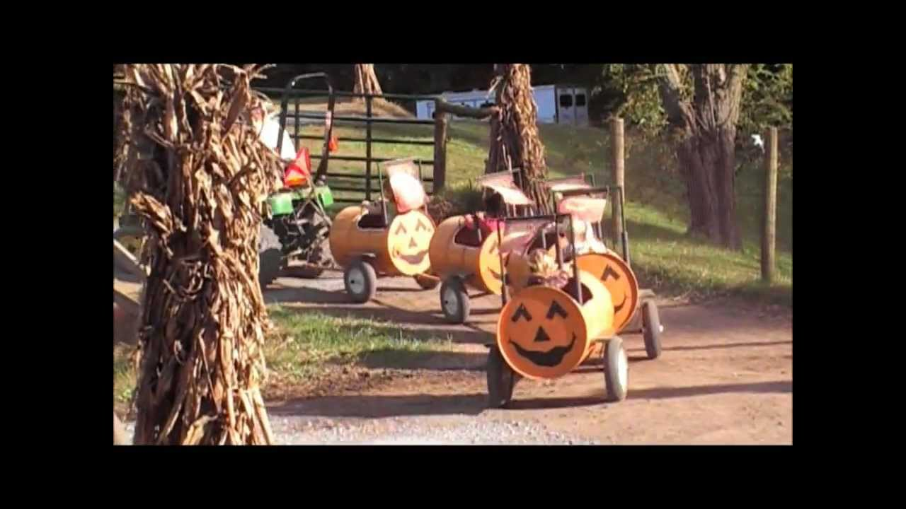 Homestead gardens fall festival pumpkin ride john deere x series davidsonville maryland youtube for Homestead gardens fall festival