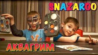 Детский АкваГрим SNAZAROO Face Paint ! + Обзор красок и Масок!