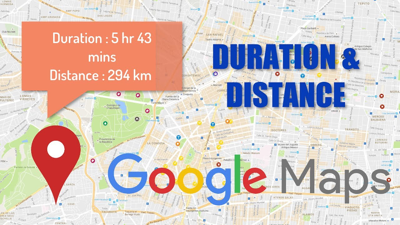Google Maps Duration Android Tutorials Youtube