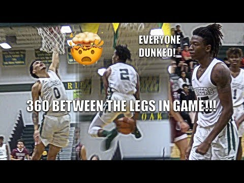 Niven Glover 360 IN BETWEEN THE LEGS!!! EVERYONE ON OAK RIDGE DUNKS IN GAME!!!