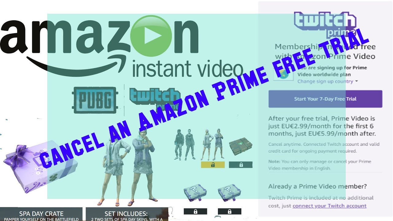 How To Cancel Your Amazon Prime Video worldwide plan 7 Day Free Trial 2018