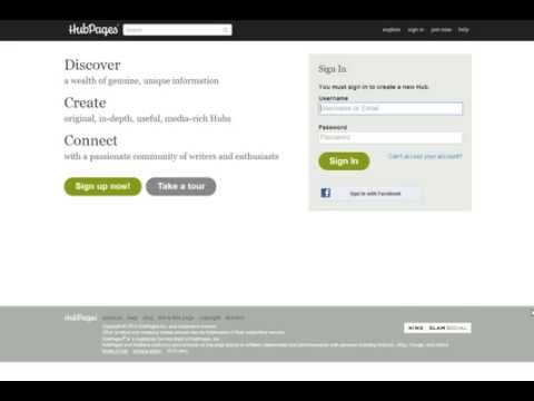 How to write and make money from Hubpages