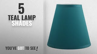 Top 10 Teal Lamp Shades [2018 ]: Urbanest Hardback Silk Empire Lamp Shade 5-inch by 9-inch by