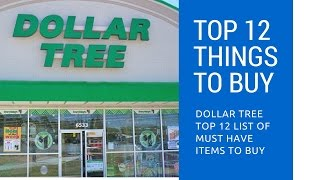 DOLLAR TREE Top 12 List Of Must Have Items To Buy