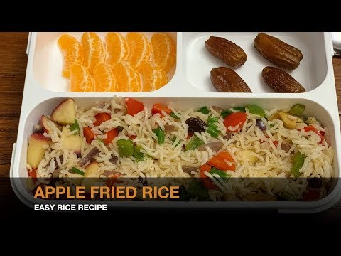 Apple FriedRice Recipe | Morning Lunch Pack  Ideas | Easy Fried Rice Recipe | Quick Lunch Menu