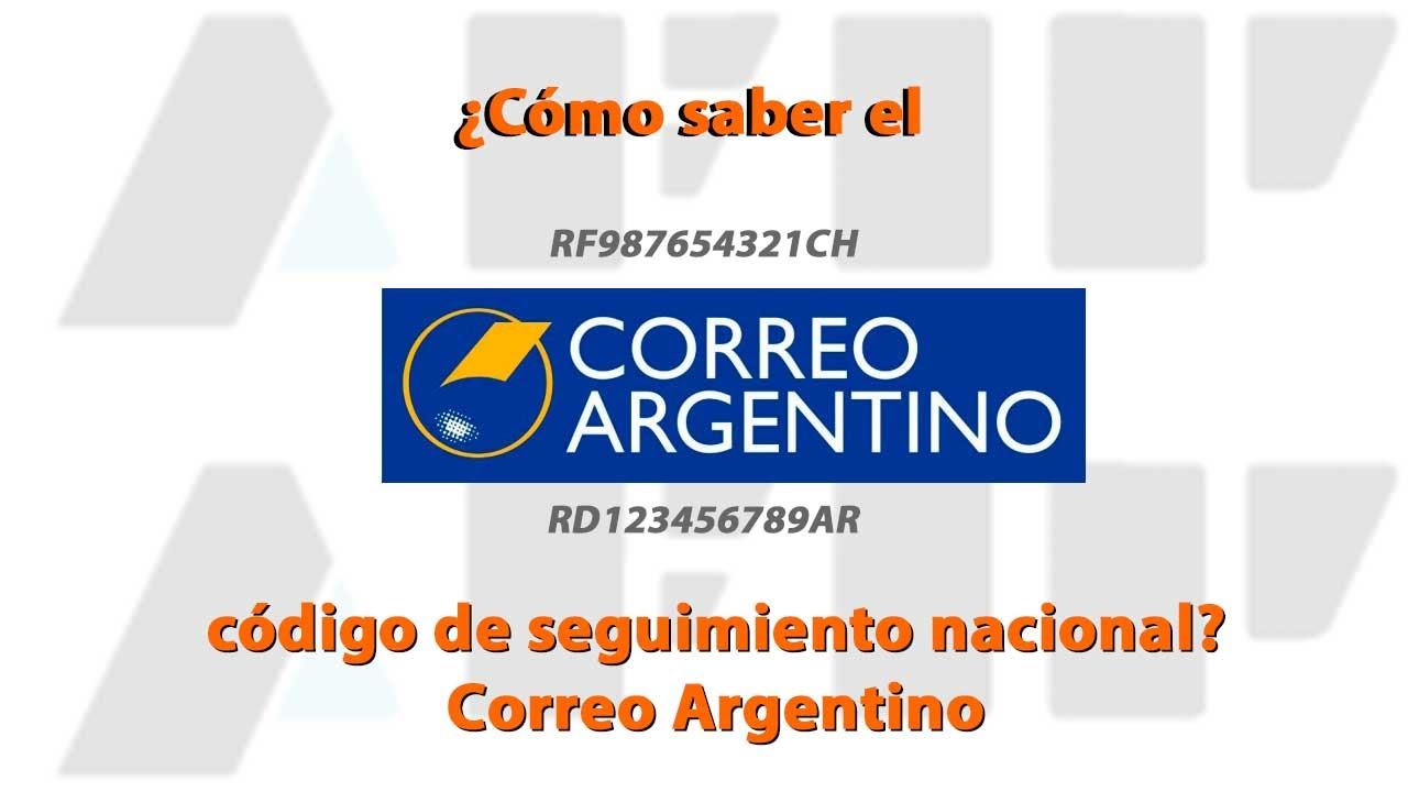 Cómo saber el código de seguimiento nacional? Correo Argentino - YouTube