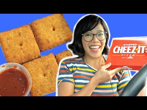 Pizza Hut Stuffed CHEEZ-IT PIZZA Taste Test