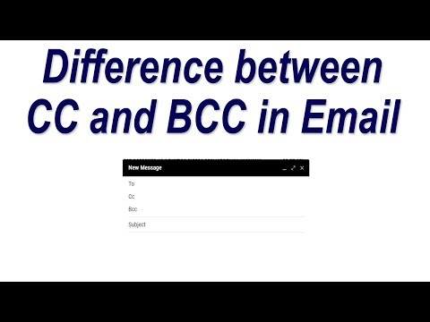 Difference between CC and BCC in Email