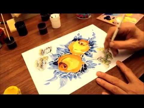 Изо 1 класс городецкая роспись сказочная птица цель