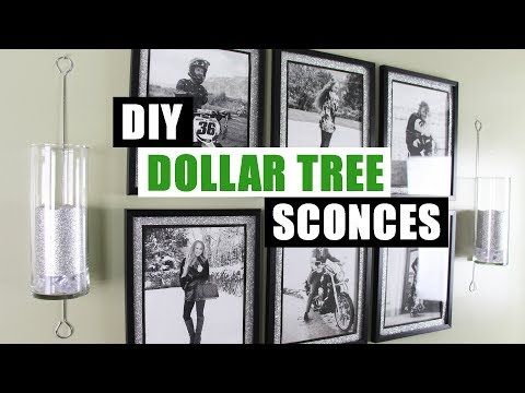 DIY DOLLAR TREE WALL SCONCES DIY Home Decor