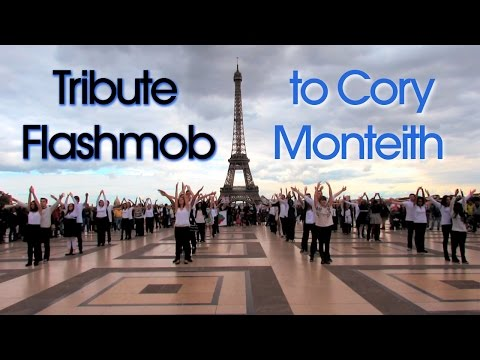 Tribute Flash Mob to Cory Monteith in Paris - October 6th 2013