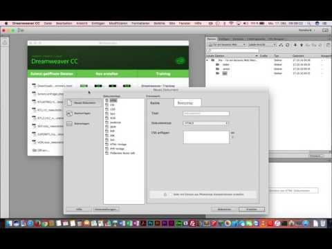 Dreamweaver CC 2017 - Website erstellen und Grundsätzliches