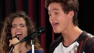 Camila Fernández y Simón cantan Eres Soy Luna Momento Musical