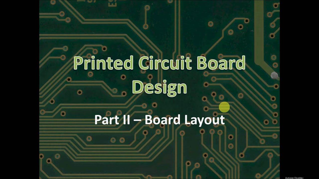 Skills Module: Printed Circuit Board Layout