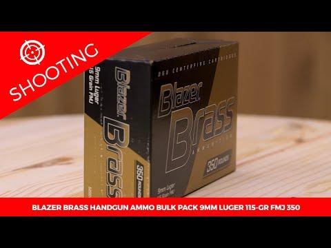 Blazer Brass Handgun Ammo Bulk Pack 9mm Luger 115 gr. FMJ 350 Rounds