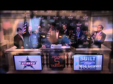 Professional Bull Riders Kick Off 2012 Built Ford Tough Series ring the NYSE Closing Bell