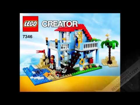 LEGO Creator 7346 Seaside House Instructions DIY Book 1