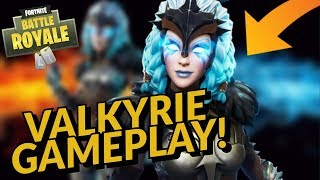 VALKYRIE Skin Gameplay! In Fortnite Battle Royale
