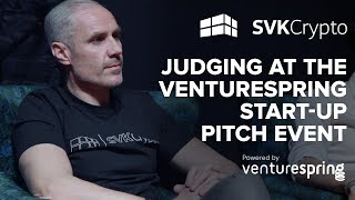 Judging at the Venturespring start-up pitch event in London