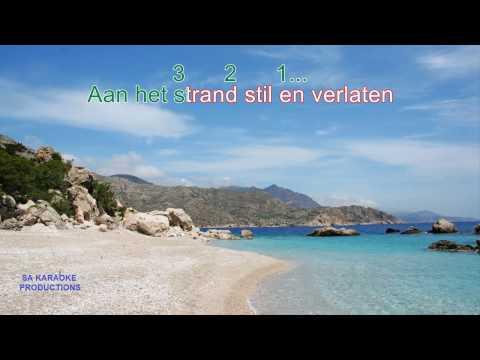 """Karaoke HD """"Aan het Strand stil en verlaten"""" (de Havenzangers)"""
